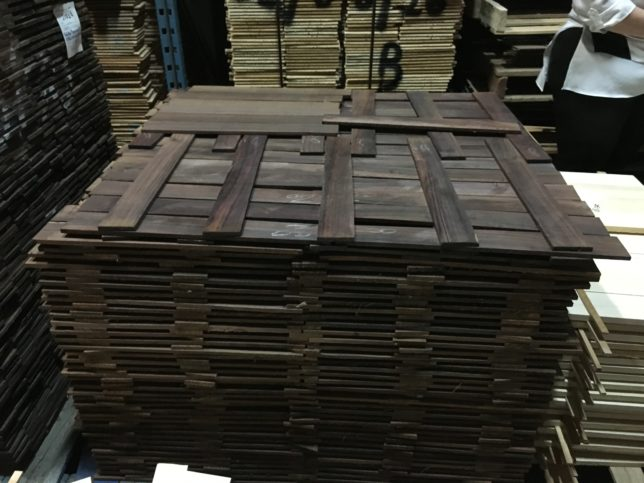 Indian rosewood in the drying room.